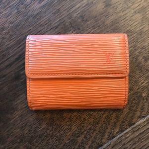Louis vuitton epi coin card wallet